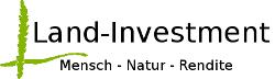 Logo der Firma Land Investment mit grüner Ähre